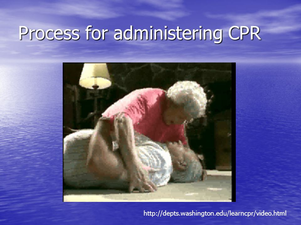 Process for administering CPR