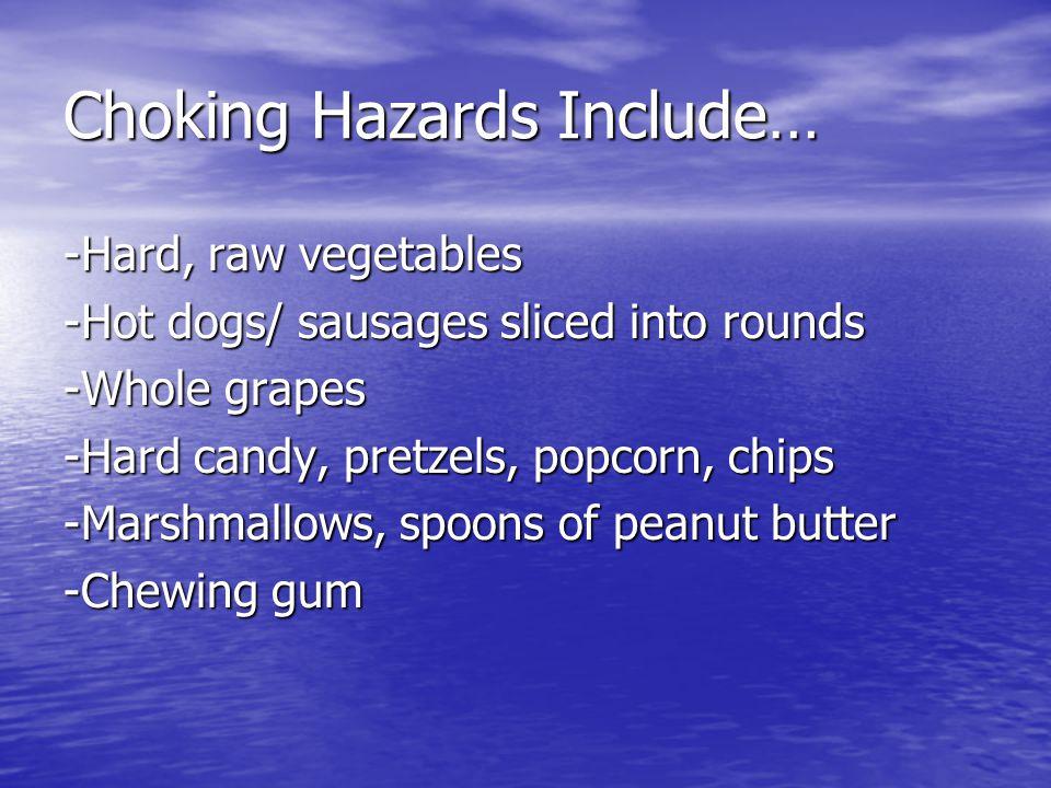 Choking Hazards Include…