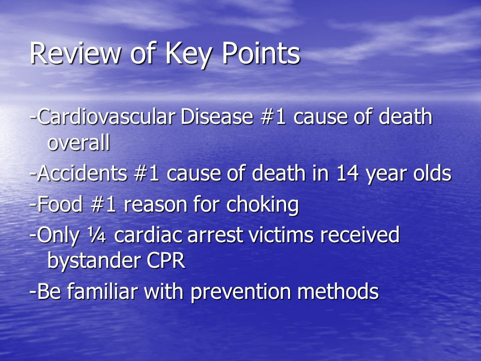 Review of Key Points -Cardiovascular Disease #1 cause of death overall