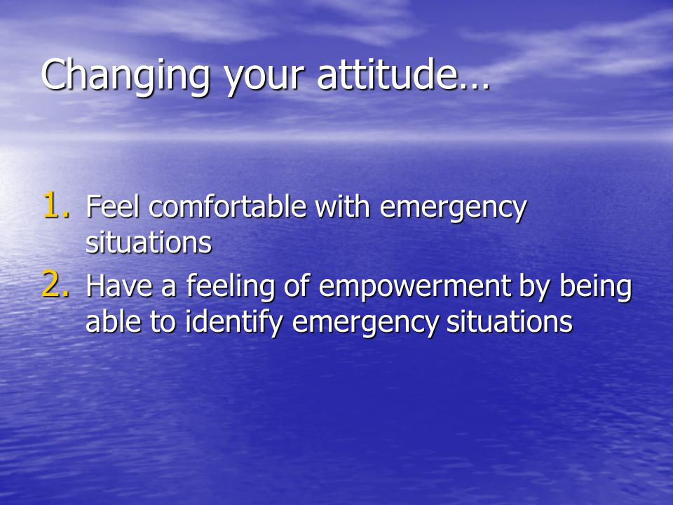 Changing your attitude…