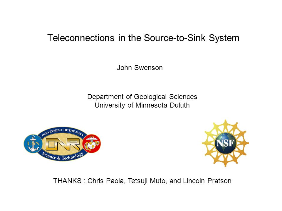 Teleconnections in the Source-to-Sink System