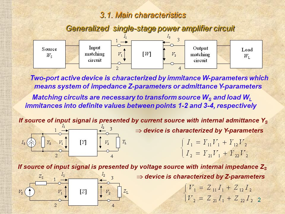 Generalized single-stage power amplifier circuit