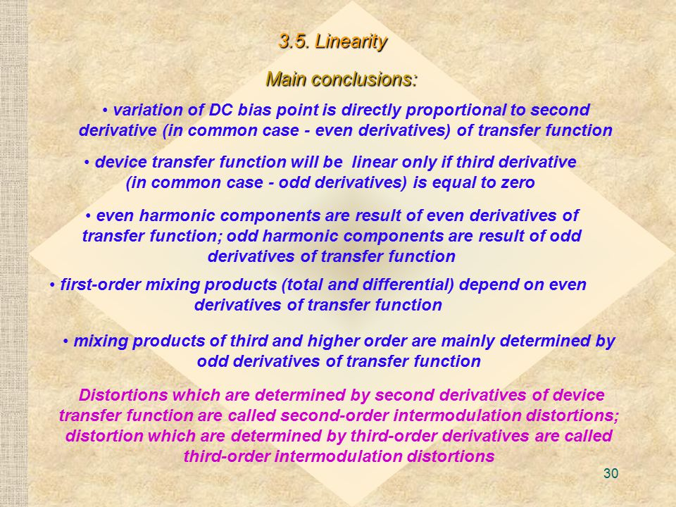 3.5. Linearity Main conclusions: