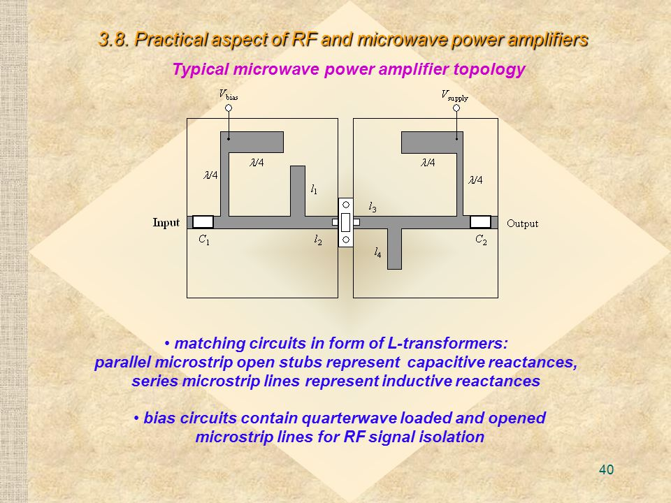 3.8. Practical aspect of RF and microwave power amplifiers