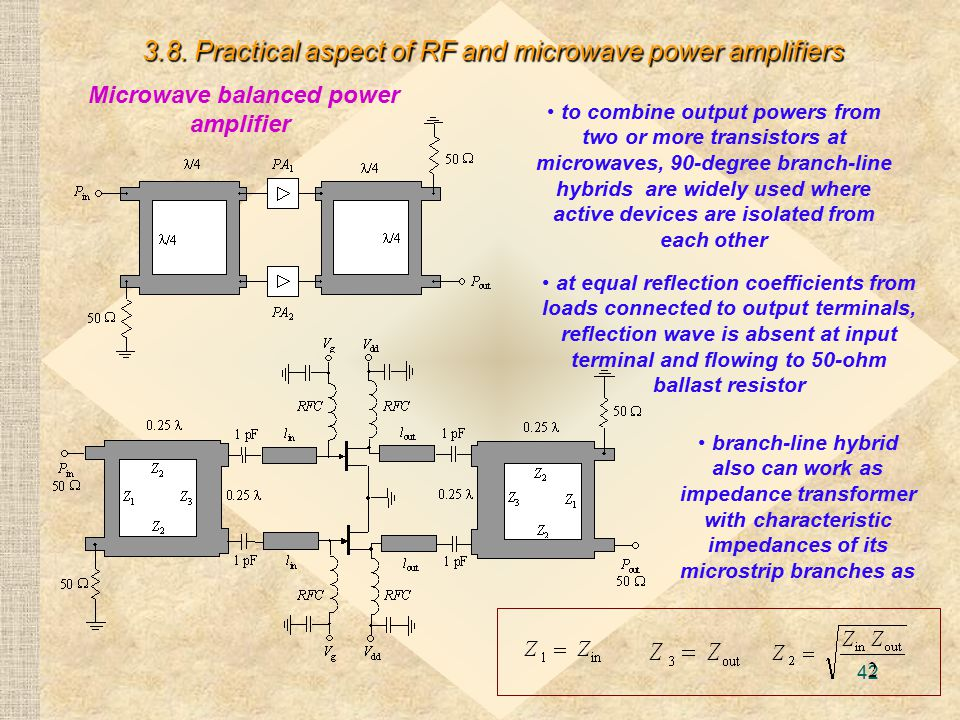 Microwave balanced power amplifier