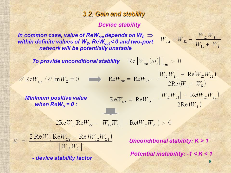 3.2. Gain and stability Device stability