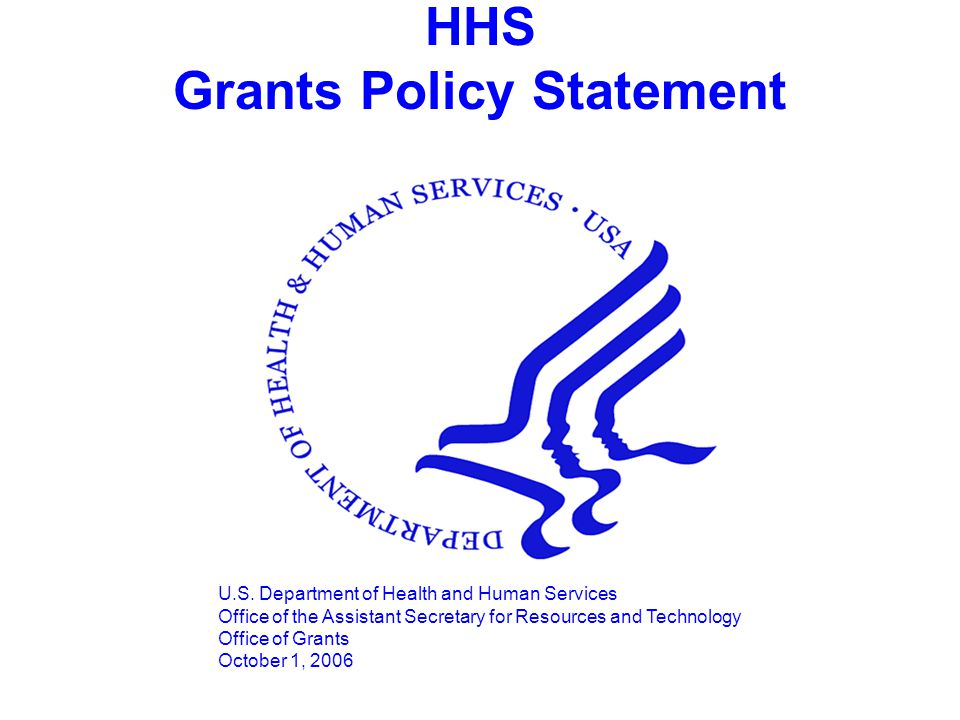 HHS Grants Policy Statement