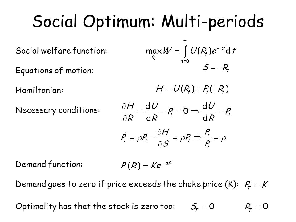 Social Optimum: Multi-periods