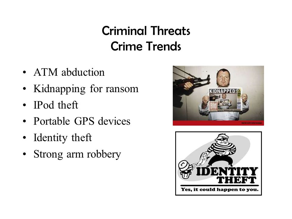 Criminal Threats Crime Trends