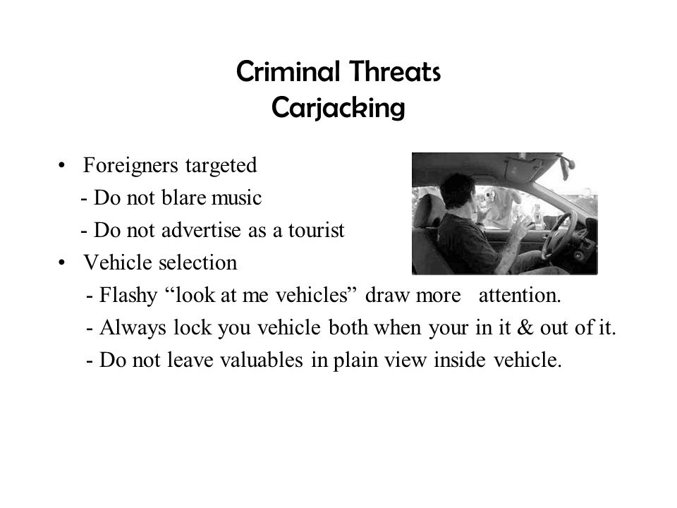 Criminal Threats Carjacking