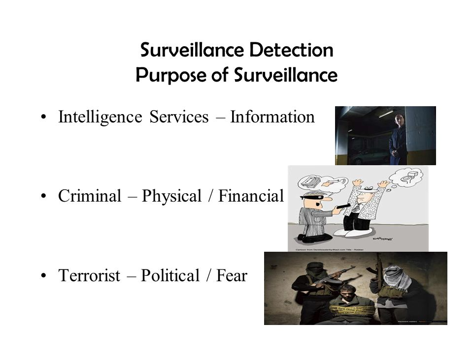 Surveillance Detection Purpose of Surveillance