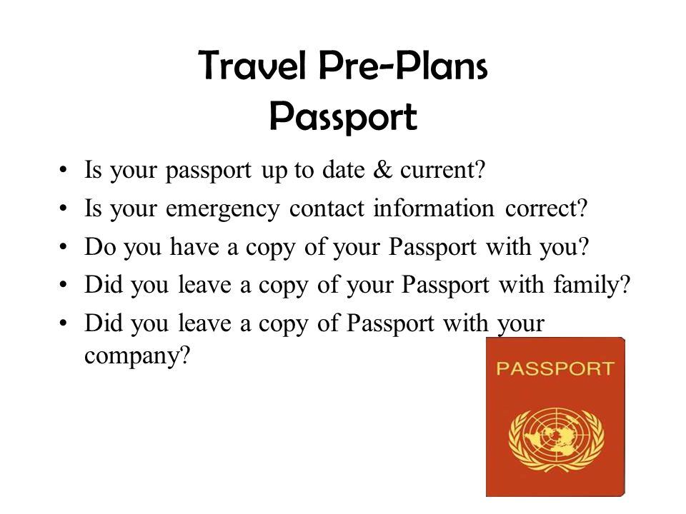 Travel Pre-Plans Passport