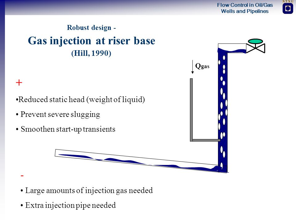 Gas injection at riser base