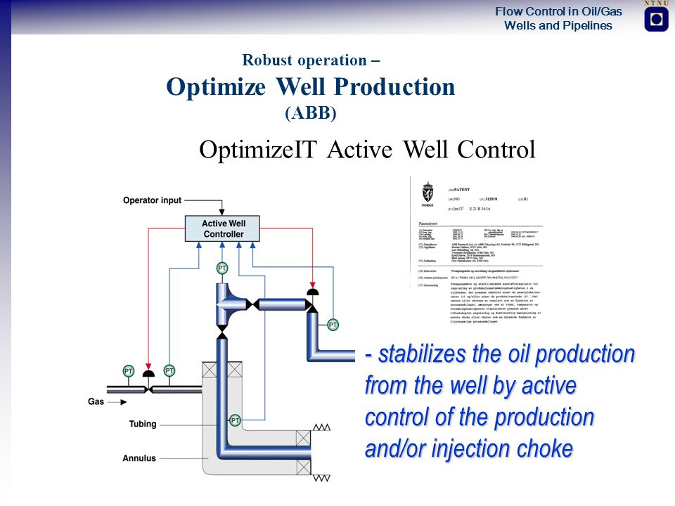 Robust operation – Optimize Well Production