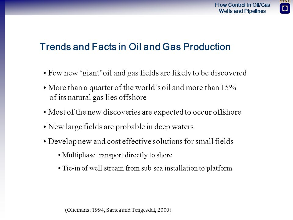 Trends and Facts in Oil and Gas Production