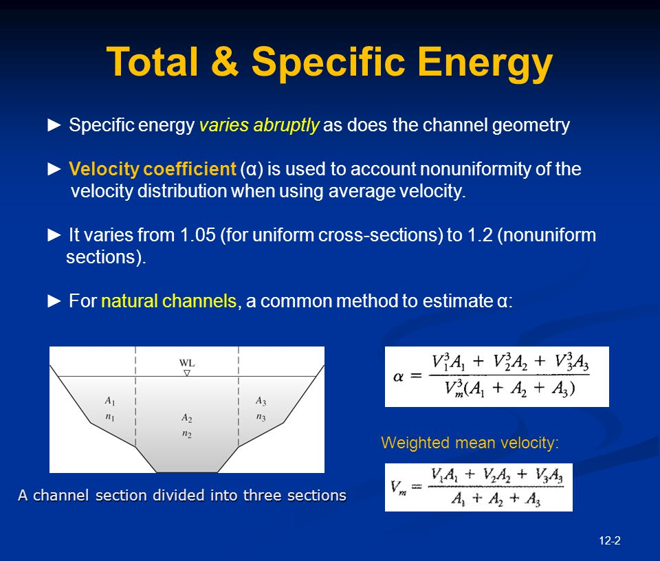 Specific Energy Diagram (SED)