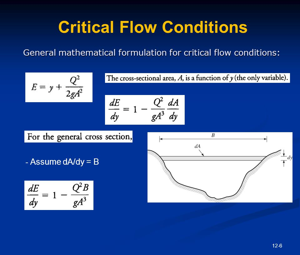 Critical Flow Conditions
