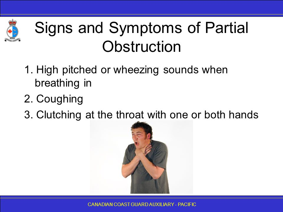 Signs and Symptoms of Partial Obstruction