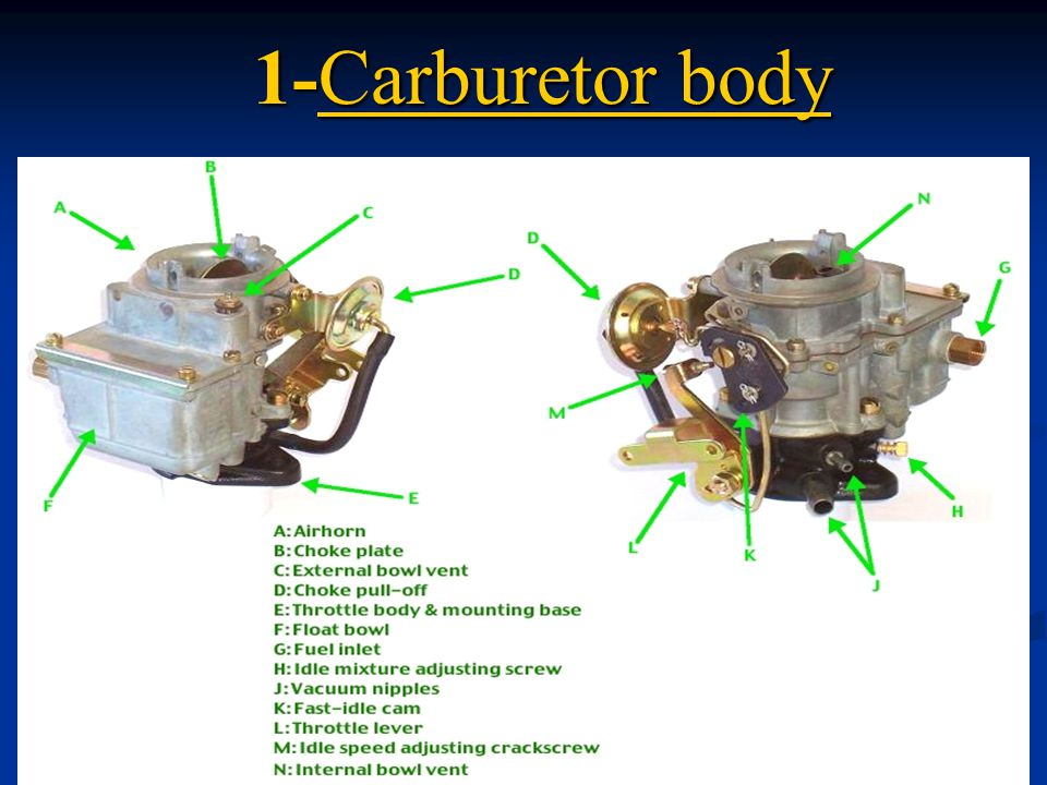 1-Carburetor body