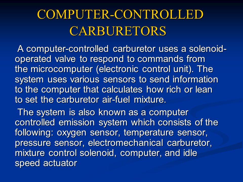 COMPUTER-CONTROLLED CARBURETORS