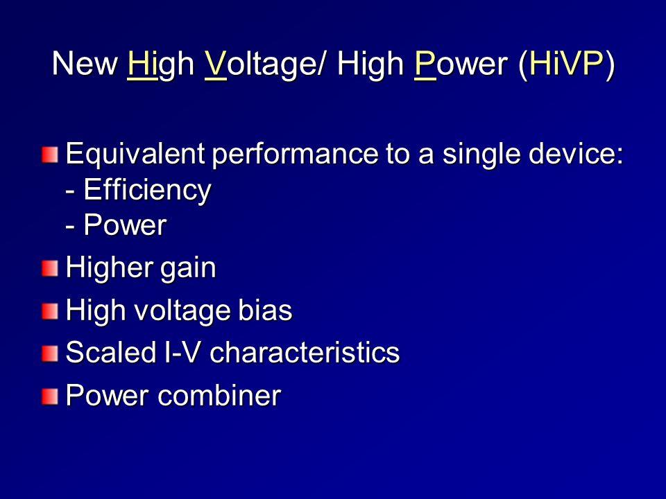 New High Voltage/ High Power (HiVP)