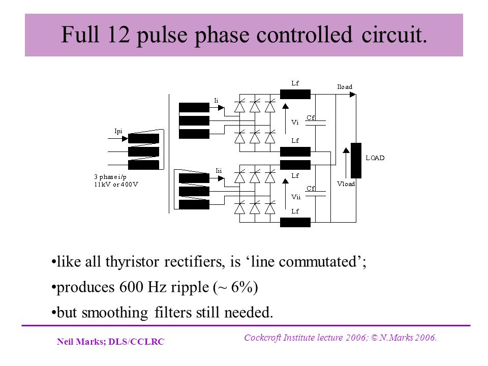 Full 12 pulse phase controlled circuit.