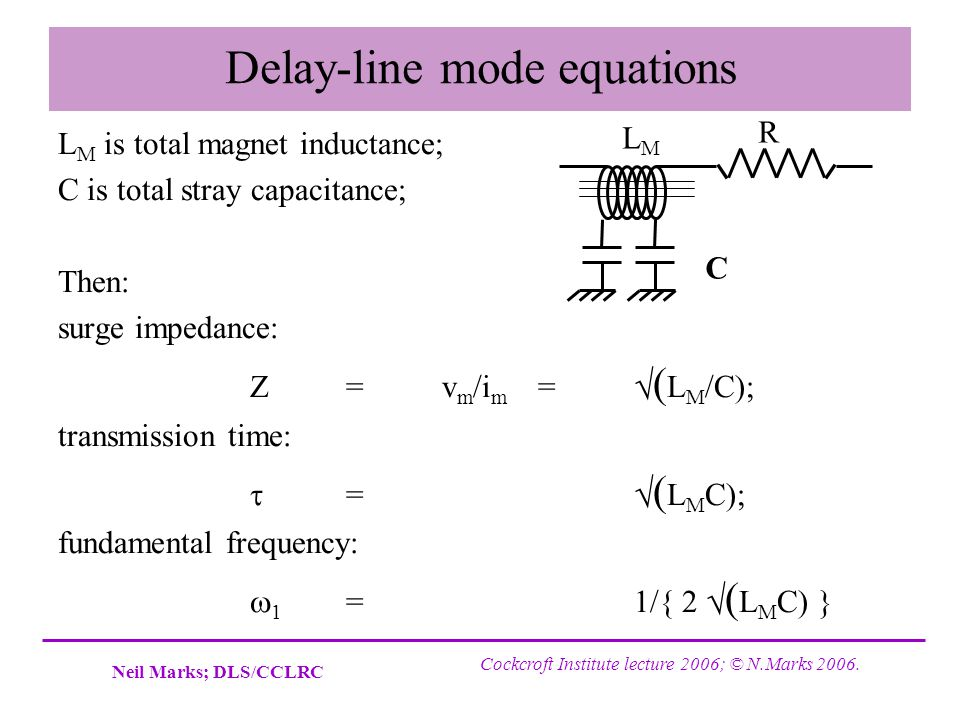 Delay-line mode equations