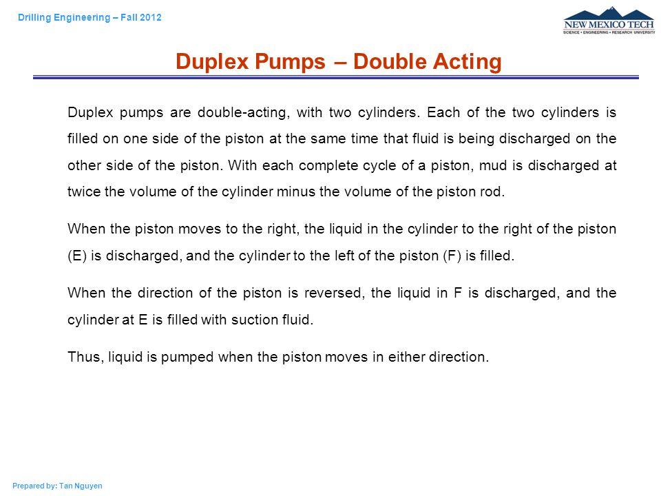 Duplex Pumps – Double Acting