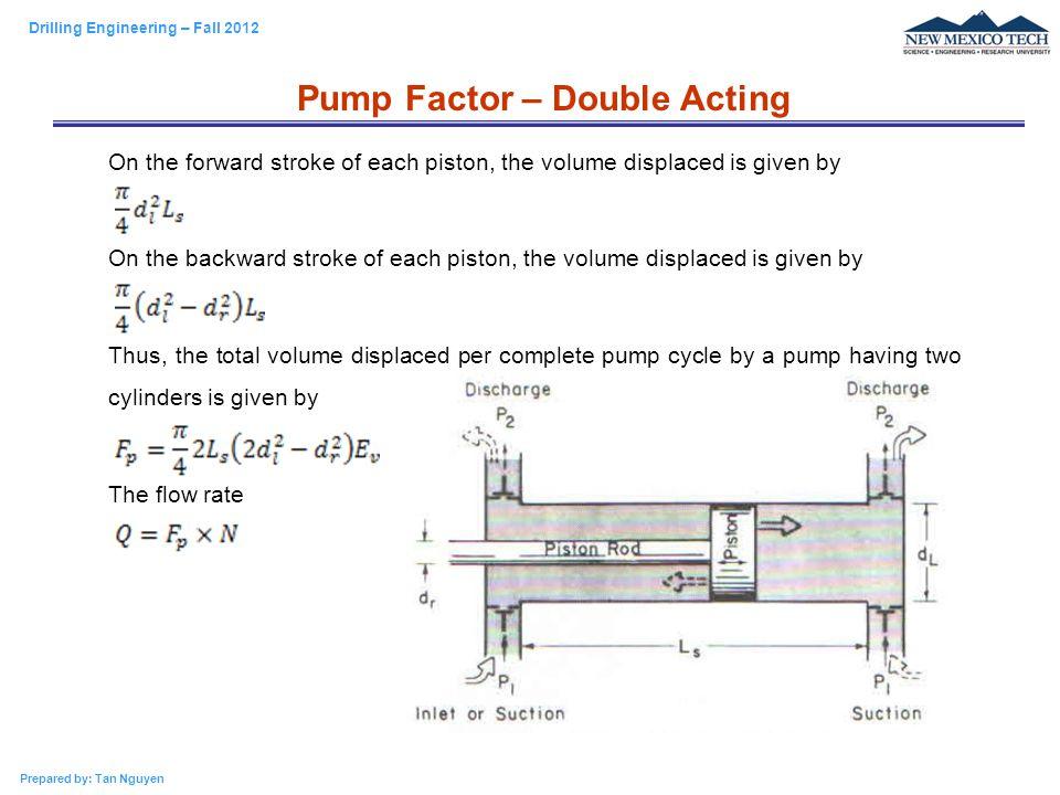 Pump Factor – Double Acting