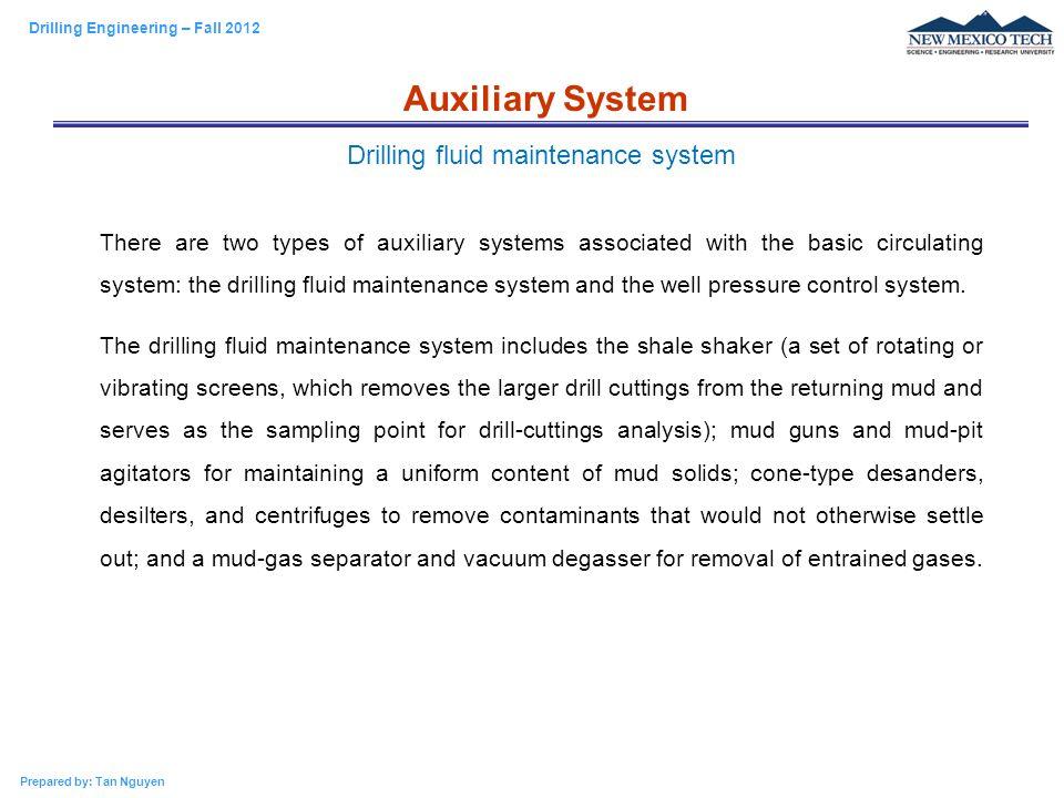 Drilling fluid maintenance system