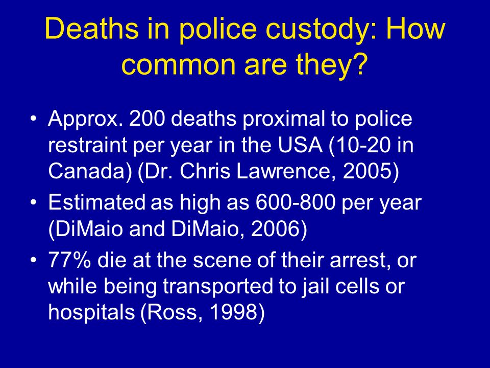 Deaths in police custody: How common are they