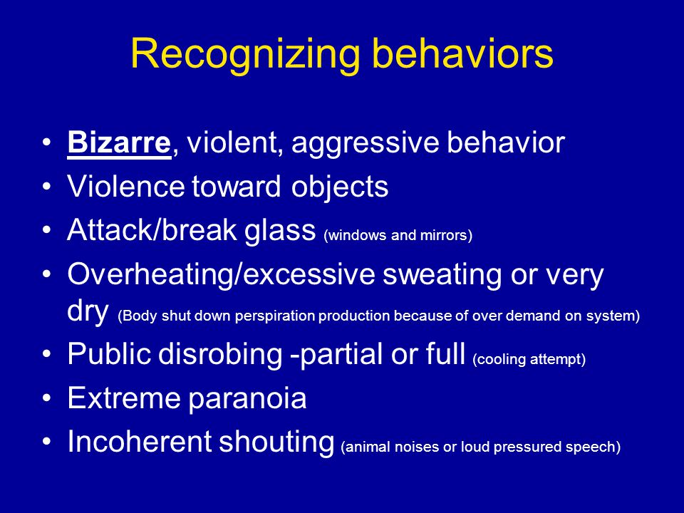 Recognizing behaviors
