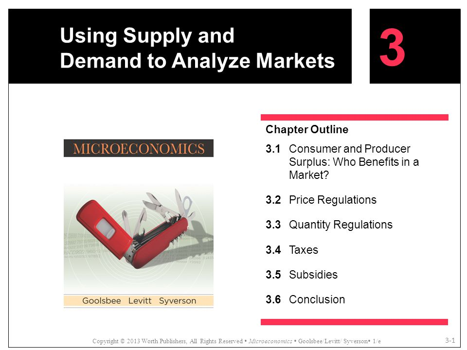 Using Supply and Demand to Analyze Markets