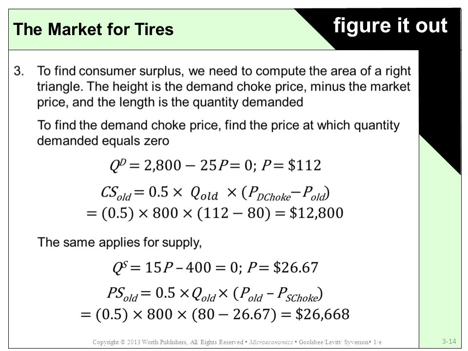 figure it out The Market for Tires