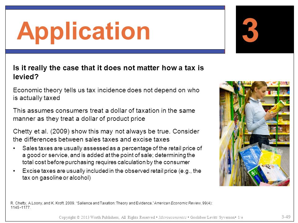 Application 3. Is it really the case that it does not matter how a tax is levied