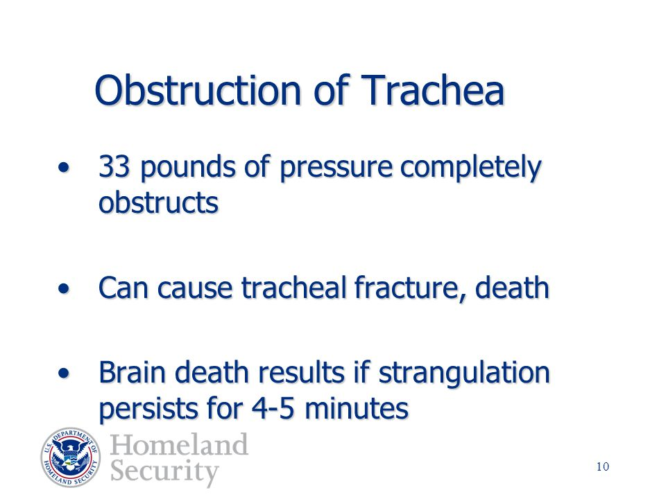 Obstruction of Trachea