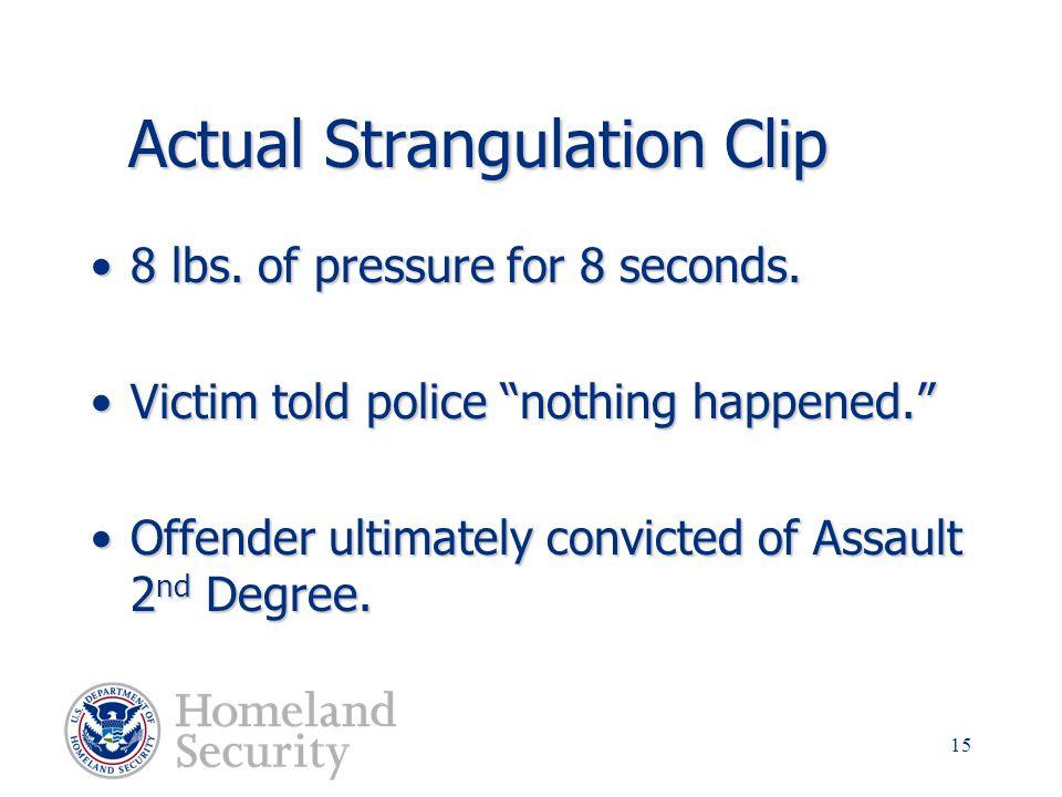 Actual Strangulation Clip
