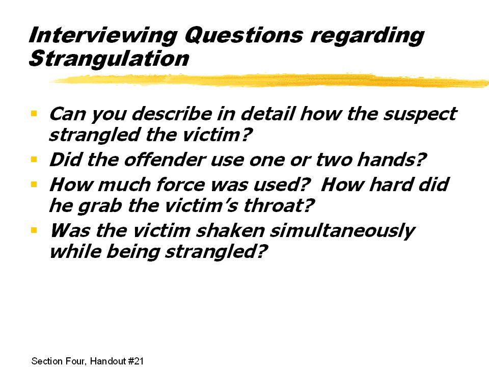 Stalking and Strangulation
