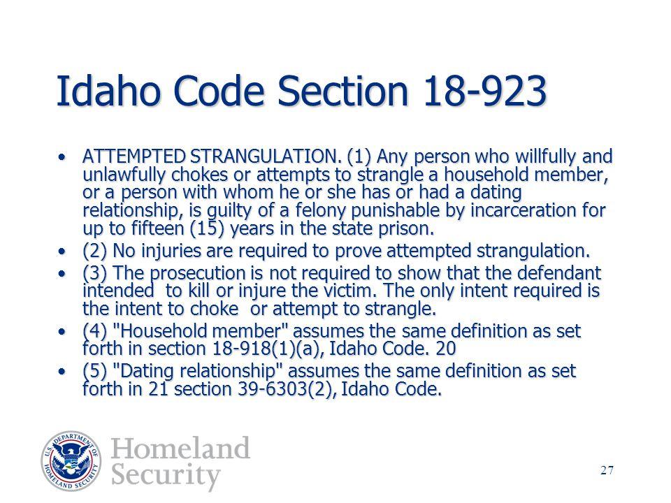 Idaho Code Section 18-923