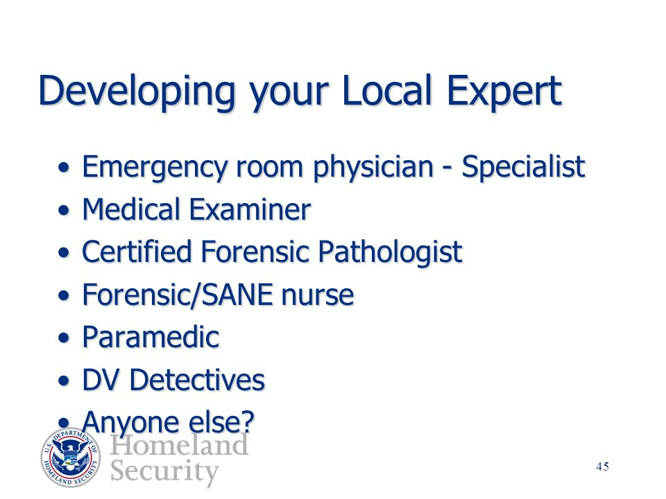 Developing your Local Expert