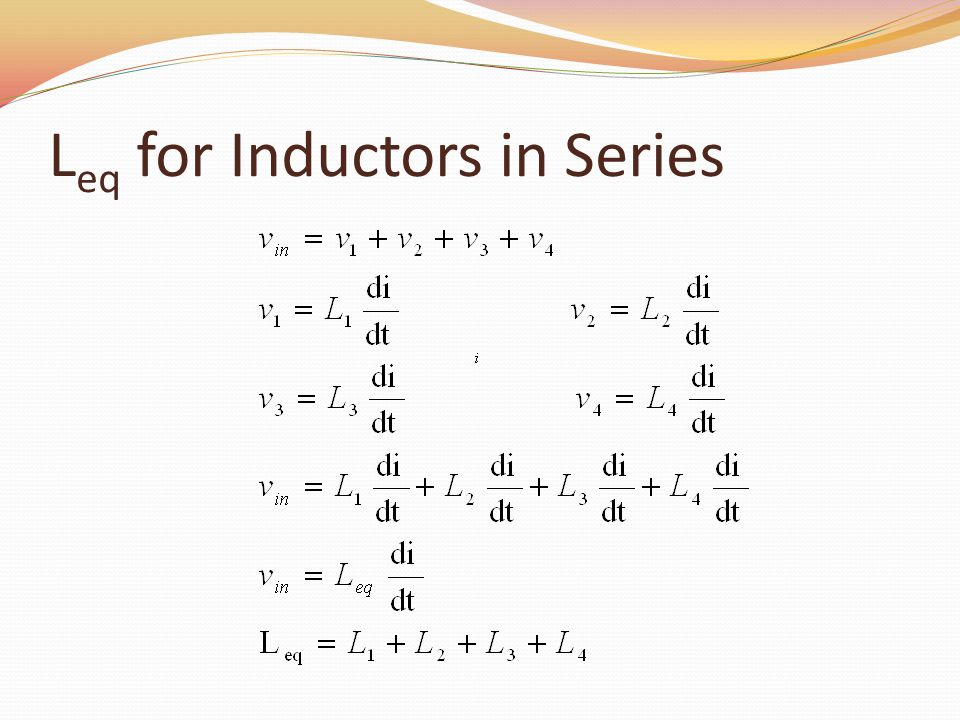 Leq for Inductors in Series