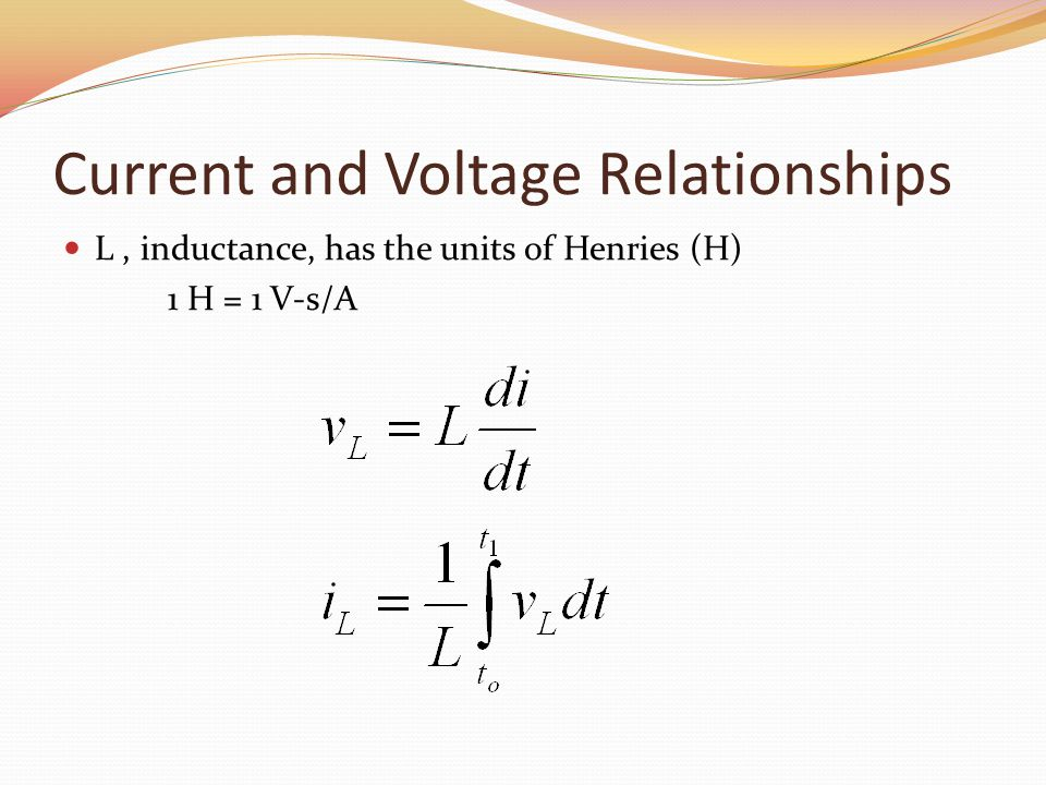 Current and Voltage Relationships