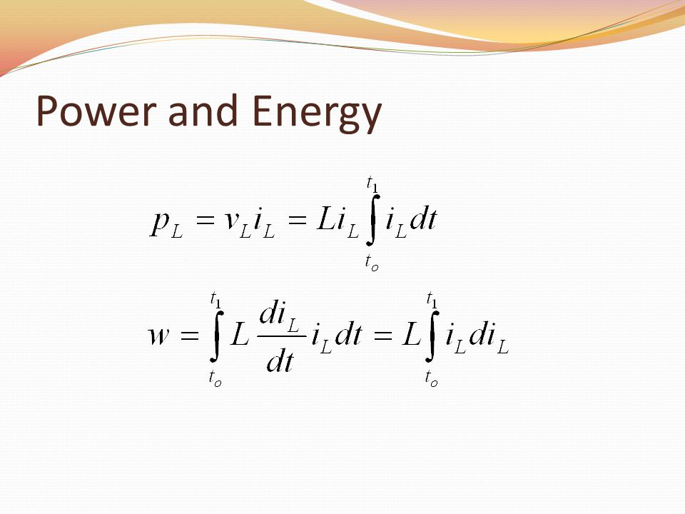Power and Energy