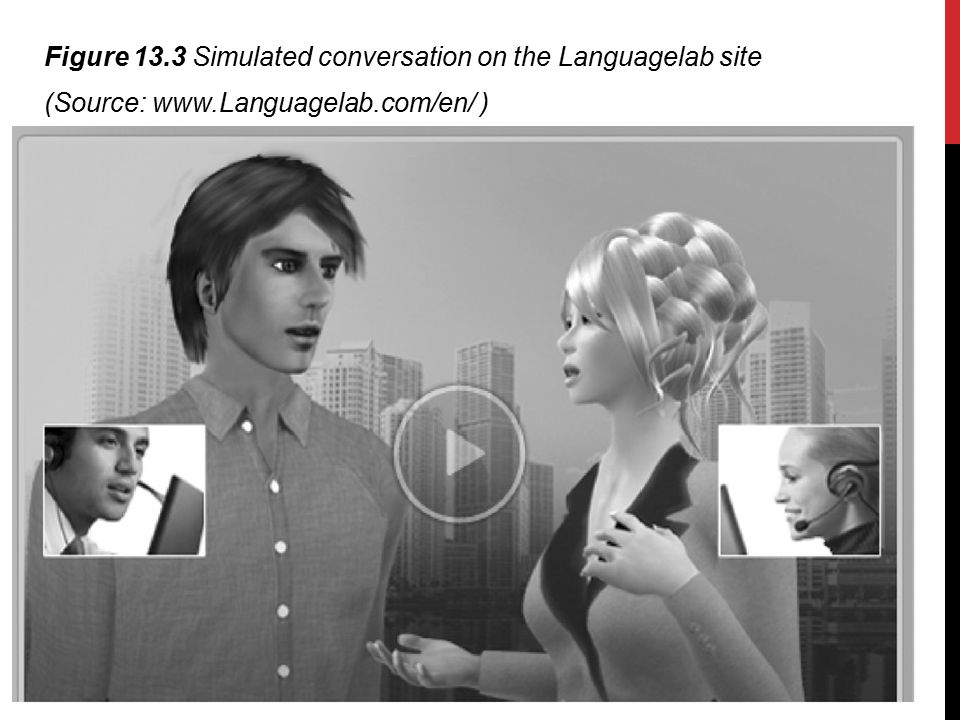 Figure 13.3 Simulated conversation on the Languagelab site (Source: www.Languagelab.com/en/ )