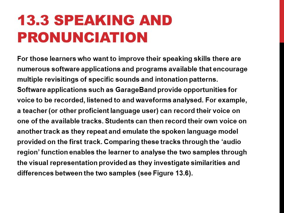 13.3 Speaking and pronunciation