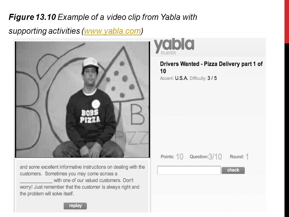 Figure 13.10 Example of a video clip from Yabla with supporting activities (www.yabla.com)