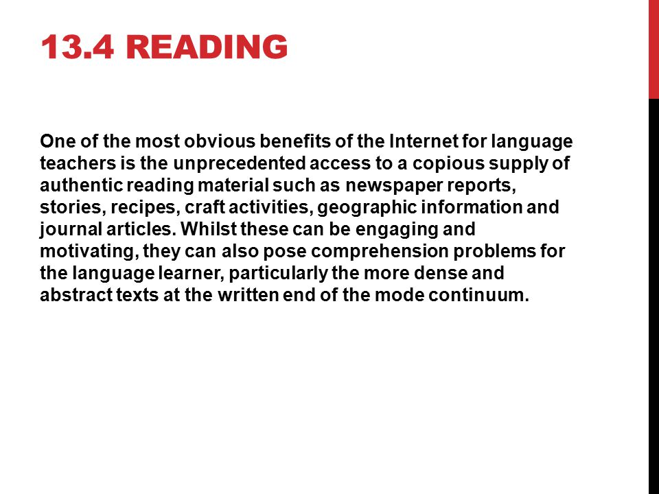 13.4 Reading