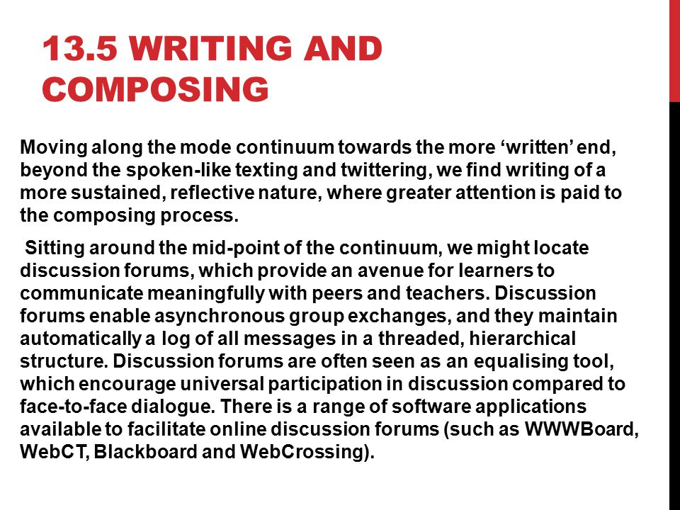 13.5 Writing and composing