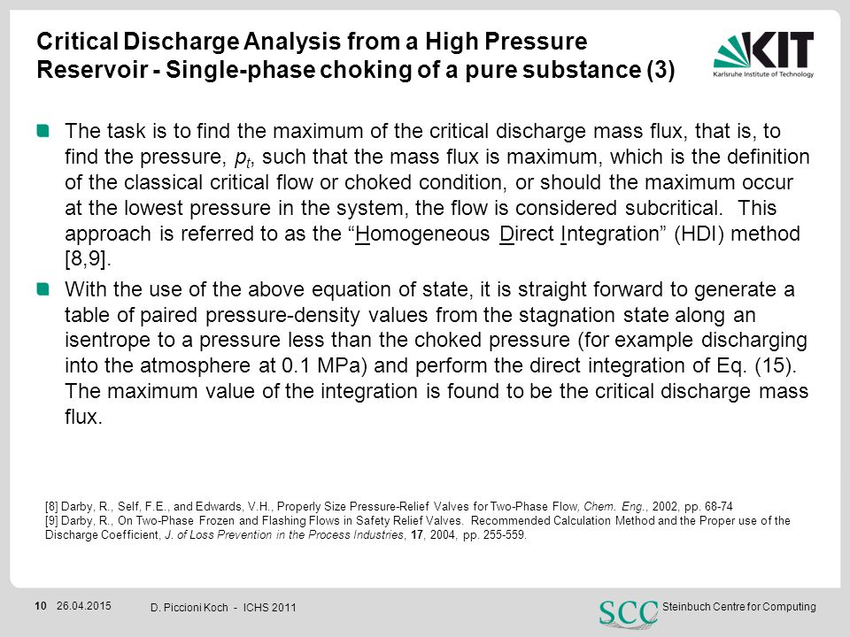 Critical Discharge Analysis from a High Pressure Reservoir - Single-phase choking of a pure substance (3)