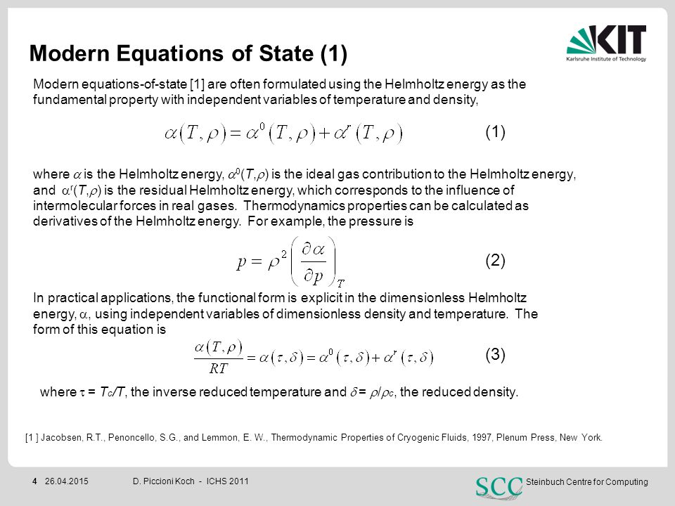 Modern Equations of State (1)